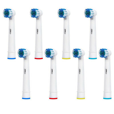 8 Pack Replacements Heads for Oral B Electric Toothbrush - UK Seller