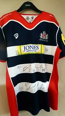 Signed Bristol Rugby Shirt 16 Signatures 2017/18