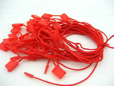 red bag Tag String Lock Fastener Labeling Tagging Supplies square end tag hang