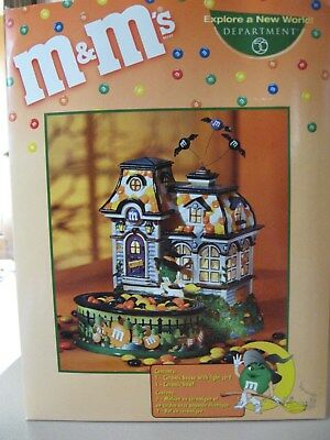 Department 56 M&M's Spooky House Lighted House & Candy Dish