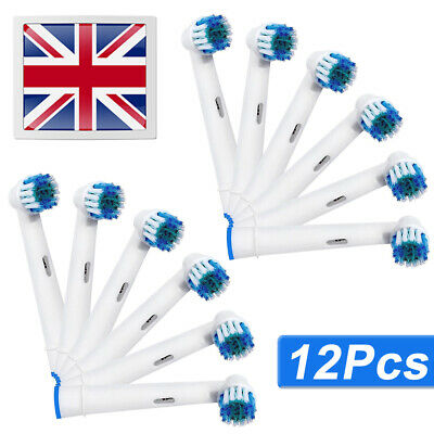 12 X Electric Toothbrush Replacement brush Heads Compatible wIth Braun Oral B UK