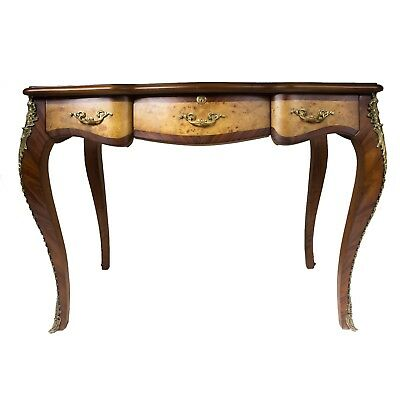 Wood Commode Desk Brass Decoration French Style Louis Xv