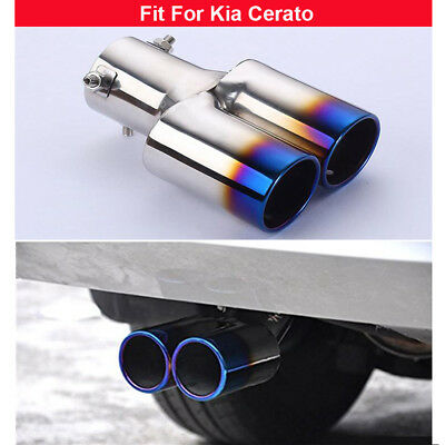 1 Double Outlets Exhaust Muffler Tail Pipe Tip Tailpipe For Kia Cerato 2009-2019