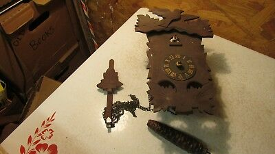 Old Germany Cuckoo Clock Parts- single weight