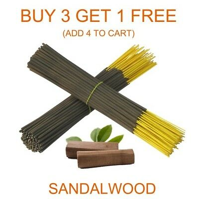 "Sandalwood Scent Aroma 9"" Aggarbatti Incense Sticks Hand Dipped Bulk From India"