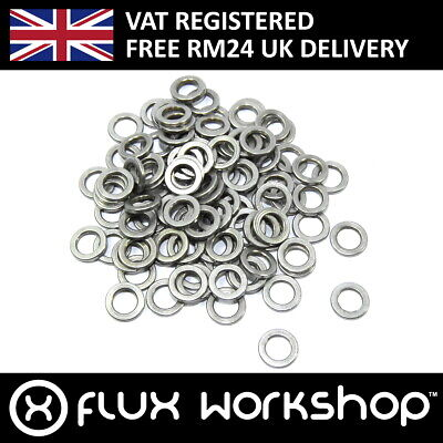 100pcs 5x8x1mm Shim Aluminium Spacer CNC Mounting Coupling Flux Workshop