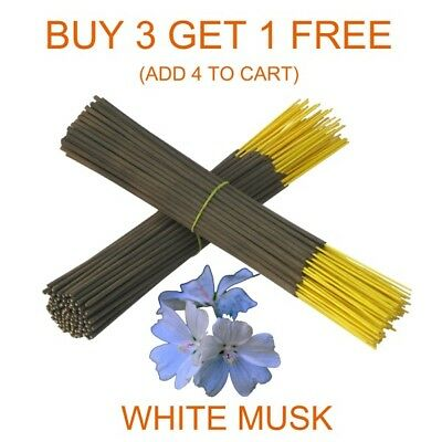 """White Musk Scent Aroma 9"""" Aggarbatti Incense Sticks Hand Dipped Bulk From India"""