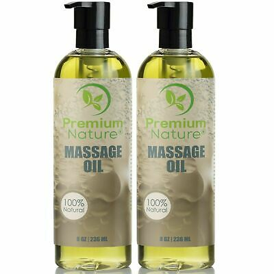 Massage Body Oil 16oz (2x8oz) For Skin Essential Oils Aromatherapy Relaxing