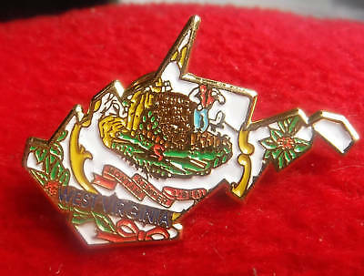 State of West Virginia Map Travel Souvenir Collector Pin Great Seal Enamel #230