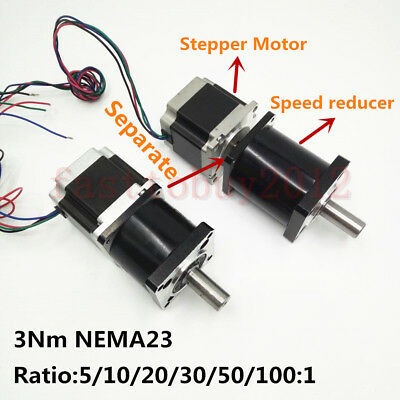 Nema23 Extruder Gear Stepper Motor 3NM Planetary Gearbox Speed Reducer  L 112mm