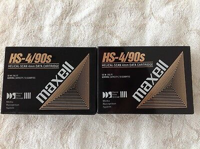 2X Maxell HS-4/90s 4mm Data helical Scan Top Neu datenkassette