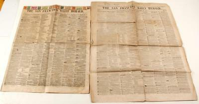 Two Gold Rush San Francisco Newspapers Lot 2336