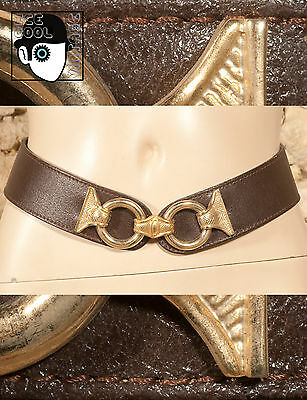 "VINTAGE 80s 90s LEATHER BELT - 31"" to 35"" - NEW - (Z)"
