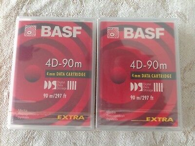 2X BASF 4D 90m mm Data cartridge  Top Neu Ovp datenkassette kassette dds