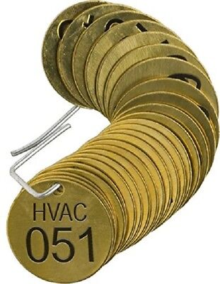 BRADY 87142 Number Stamped Brass Valve Tags