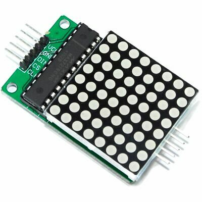 MAX7219 Serial Dot Matrix Red Display Module 8x8 LED Pi Arduino Flux Workshop