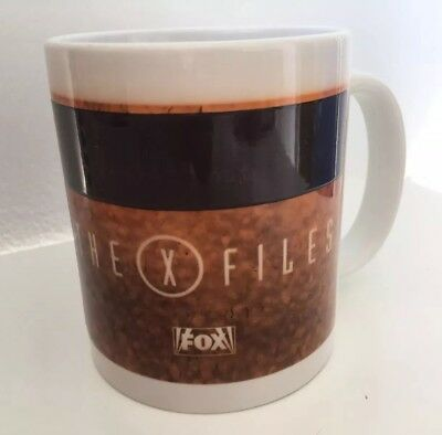 """Vintage 90s The X Files FOX Coffee Mug """"The Truth Is Out There"""" EUC"""