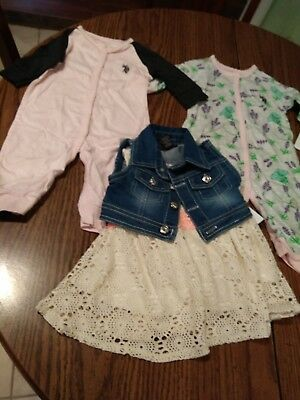 Lot of 5 pieces new U.S POLO ASSN enfant baby girls clothes size 3-6 months