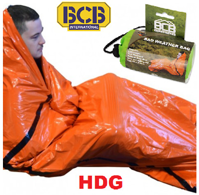BCB BAD WEATHER BAG Emergency Survival Blanket Hike Sleeping Foil Bivi Bothy