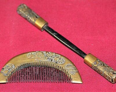 JAPANESE ANTIQUE Hair Comb Vintage 1900s KUSHI KANZASHI Kimono from JAPAN a434