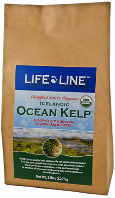Kelp 5lbs certified organic trace element + mineral supplement f/ dogs & cats..