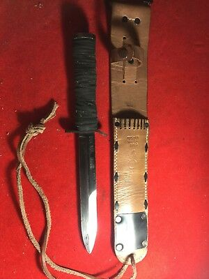 RARE US M3 Trench Fighting Knife KINFOLKS INC Blade Marked W/ US M6 1943 Sheath