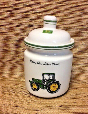 JOHN DEERE Small Canister & Lid Tractor Jar by Gibson Designs Farm Decor 7""