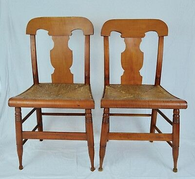 Early American, Federal, Tiger Maple Chairs c.1820's New England AAFA  Antique NR - EARLY AMERICAN, FEDERAL, Tiger Maple Chairs C.1820's New England
