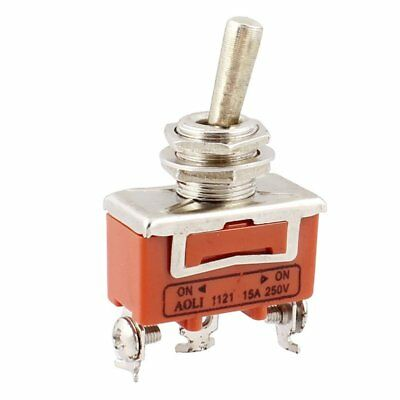 AC 250V 15A ON / ON 2-way SPDT Screw Terminals Toggle Switch M5U2