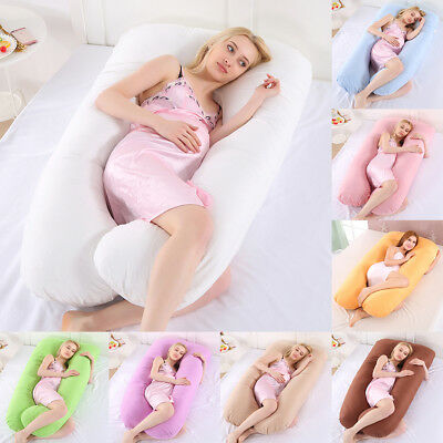 U Shaped Maternity Pregnancy Support Pillow Body Bolster Pillow / Pillowcase