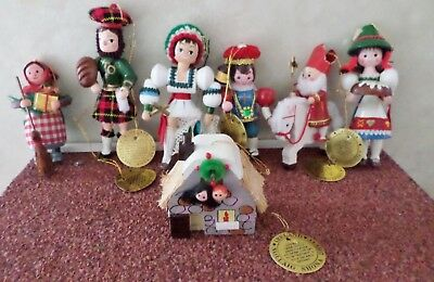 Christmas Around The World Ornament Lot of 7, Sears and Roebuck ROC Taiwan