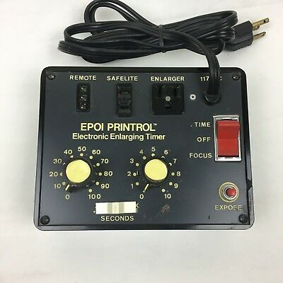 EPOI PRINTROL Electronic Enlarging Timer SN-14699 500 Watt Pre-Owned
