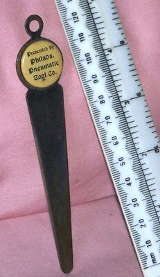 Vintage Philadelphia Pneumatic Tool Co.Letter Opener approx 5.5.inches  enamel
