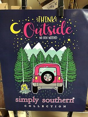 152f676f579 SIMPLY SOUTHERN THINK Outside, No Box Needed Tee; camping, jeep, campfire,  relax - $25.00 | PicClick