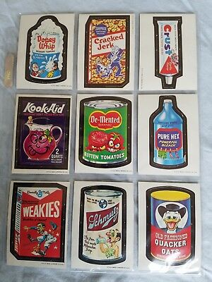 1967 Wacky Packages Die Cut Cards Lot of 9 vintage cards. The teens #s  lot #2