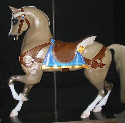 Carousel Horse Full Size Very Large  Exotic Ornate Hand Carved
