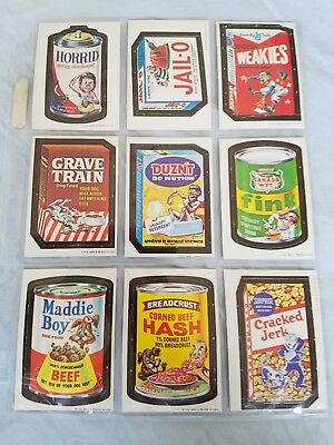 1967 Wacky Packages Die Cut Cards Lot of 9 vintage cards. The 30s. Lot #4
