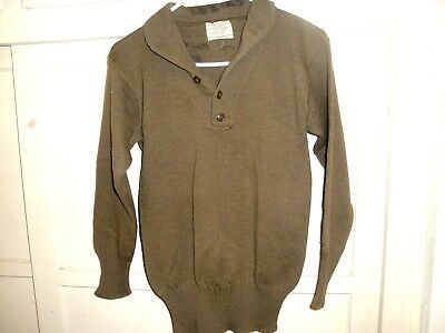 Vintage Ww2 Green Us  Army Pullover Wool Sweater  Small 12 8 1941 Superior Mills
