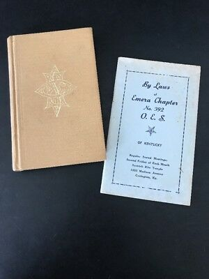 Ritual of the Order of the Eastern Star 1970 HB vtg Masonic O.E.S W / By laws