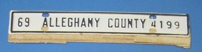 1969 Alleghany County license plate from Virginia never used