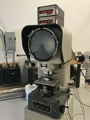 "Nikon 6C Optical Comparator 12"" --10,20,100x Lenses"