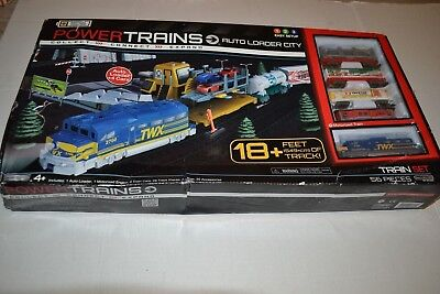 Power Trains AUTO LOADER CITY Motorized Train Set - 5 CARS  Damaged box