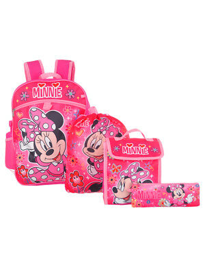 Disney Minnie Mouse 5-Piece Backpack Set