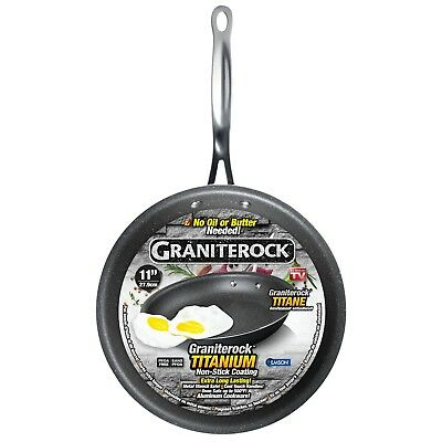 """Granite Rock 11"""" Non-Stick Ultra Durable Scratch-Resistant Frying Pan – NEW!"""