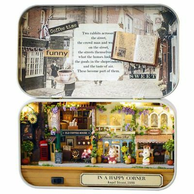3D Wooden DIY Handmade Box Theatre Dollhouse Miniature Box Cute Mini Doll H X2C9