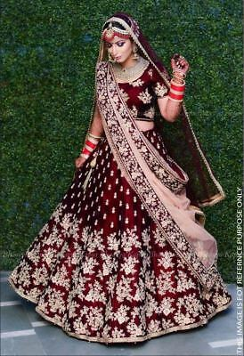 Bollywood Costume Wedding Wear Lehenga Choli Indian Pakistani Designer Lengha