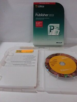 Microsoft Windows Publisher 2010 package academic 32/64 Bit DVD with Key