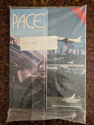Piedmont Airlines Pace Magazine December 1988 in sealed plastic