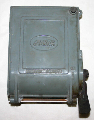 "Vintage Industrial Switch ""GEC"" Cast Alloy Switch - Steampunk Original Condition"