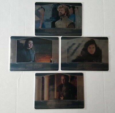 Game Of Thrones S7 Valyrian Steel Metal Case Topper Set 2A;5A;7A+Binder Excl 1A